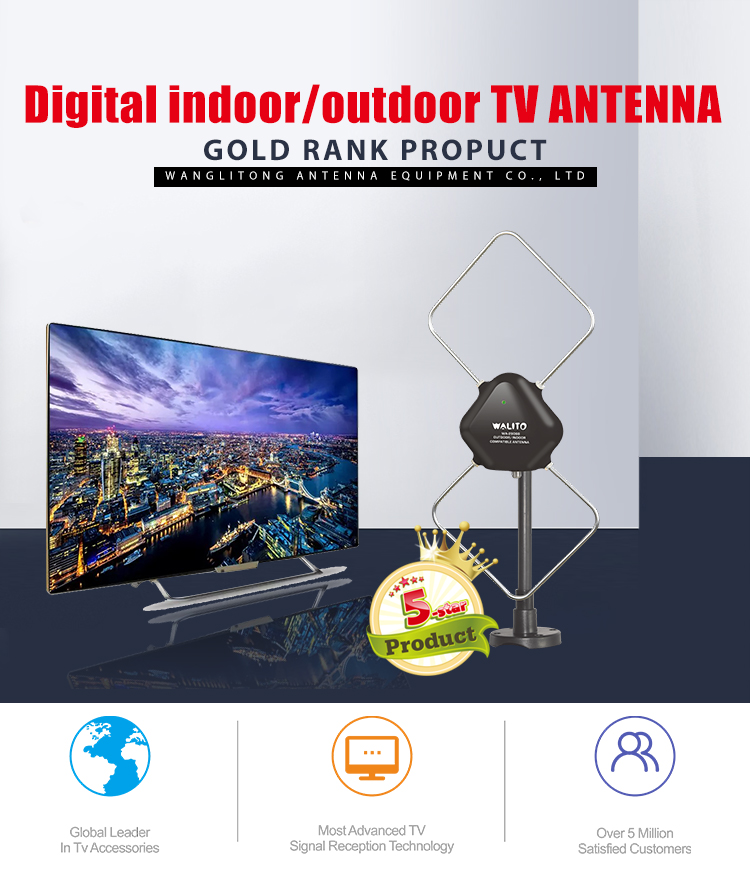 2018 New arrival best indoor outdoor digital hd television antenna