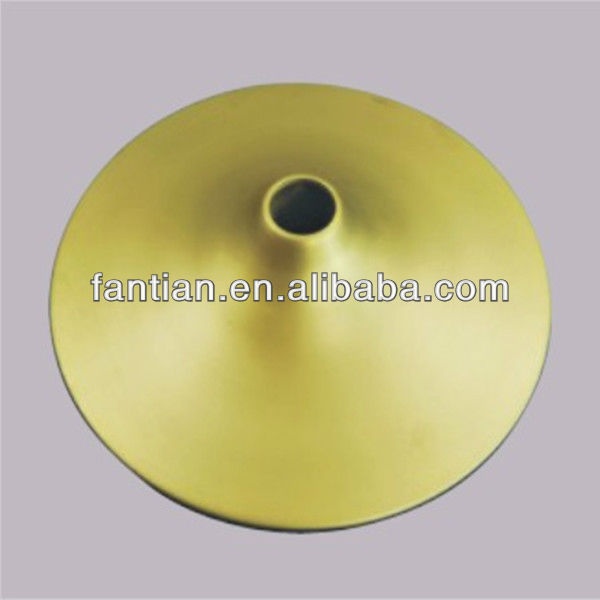 Hot sales chrome round table base only gold table base for glass tops brush furniture legs