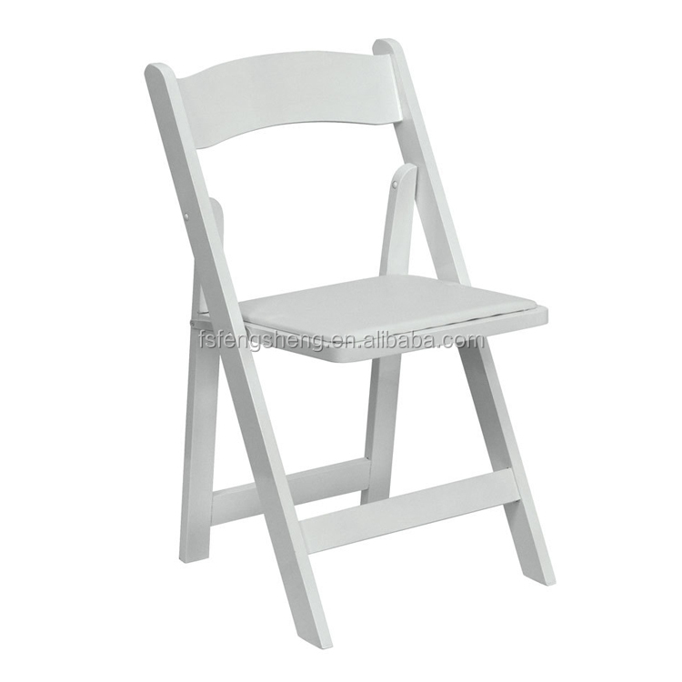 China wholesale white resin folding chair for wedding