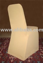 Beige Color Lycra Spandex Chair Covers