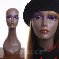 Realist Woman Mannequin Head Plastice Female Head for Display Wig H1040