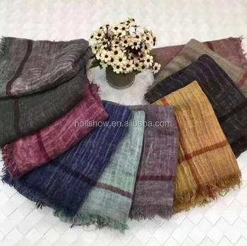 Hot Selling 2016 Latest Soft Cotton Plaid Men Women Winter Scarf