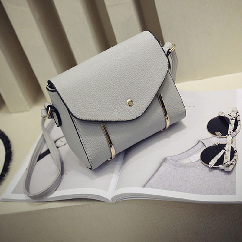 High quality designer handmade PU leather shoulder bag for lady