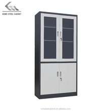 Hanging A4 laboratory steel vertical filing storage cabinet with sliding glass door