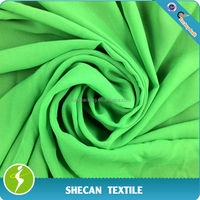 Green 100% polyester chiffon fabric
