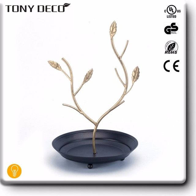 Wholesale Western Natural Home Decoration Gold Jewelry Holder