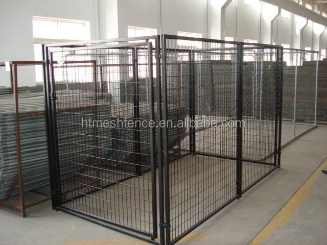 Great quality chain link probreeder metal dog kennel/metal large dog kennels ANTI-CLIMB BAR SYSTEM DOG RUN PEN CAGE
