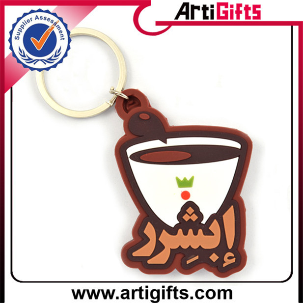 Promotion cheap custom molded plastic keyrings