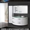 Modern design wall mounted white pvc bathroom cabinet JS-8600