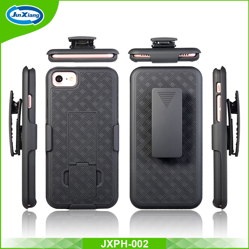 2 in 1 cell phone belt clip holster kickstand combo case for iPhone 7 7 plus