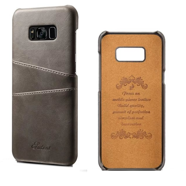 Credit Card Slots Phone Case For Samsung Galaxy S8 PU Leather Back Cover
