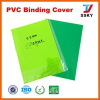 Top saler pvc binding cover thermal&hard binding cover for binding use