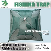 4 Entrances Fishing Trap Umbrella Type Folding Prawn Shrimp Trap