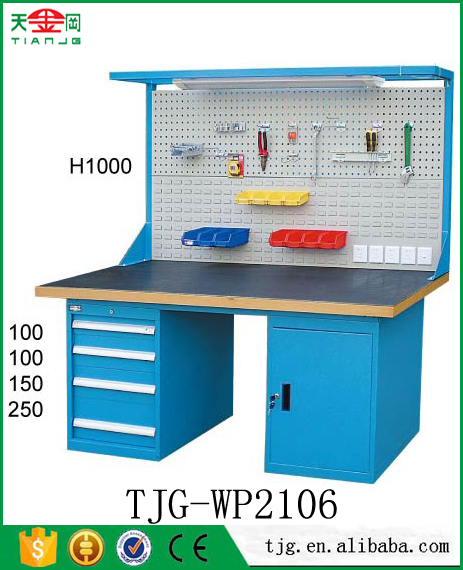 TJG Cool steel heavy duty minecraft workbench with round work table