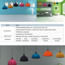 2016 Modern Colorful Silicone Pendant Lamp Droplight Pendent Light Of Lighting Decoration