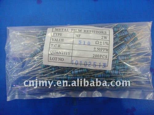 All kinds of 2W 510R Metal Film Resistor