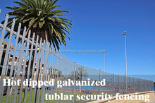 Hot Dipped Galvanised Tubular Security Fencing