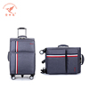 good quality secret compartment new design nylon farbic trolley luggage