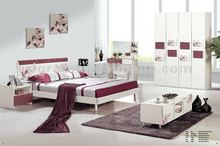 2012 hot sale simple indian style bedroom furniture with MDF board and painting