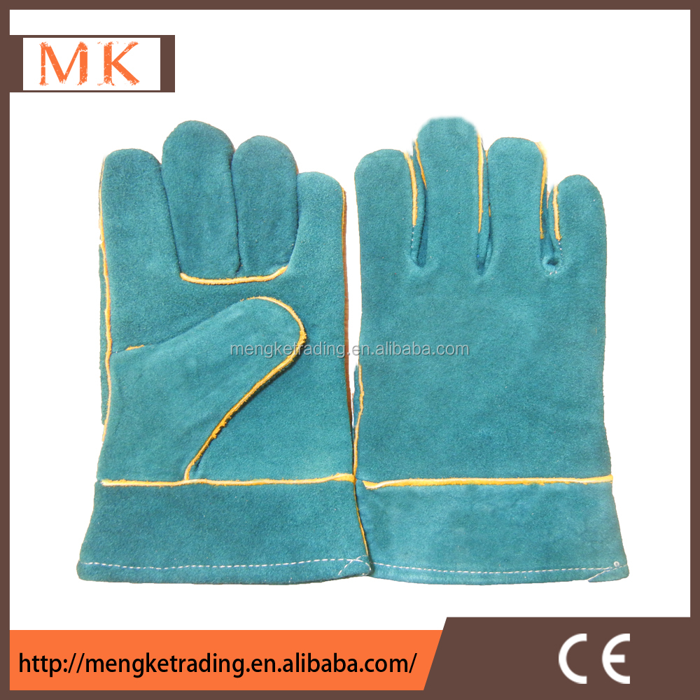 Split cowhide safety hand soldering leather gloves