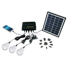 4W Solar Panel 11V 360mA charge 7.4V lithium Battery,ABS Plastic Case,wall mounting Small Solar System