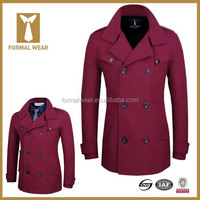 Hot Pink Custom Tailored Wool New Design Wedding Coat for Men