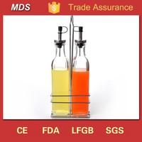 Glass olive oil vinegar dispenser bottle for kitchen