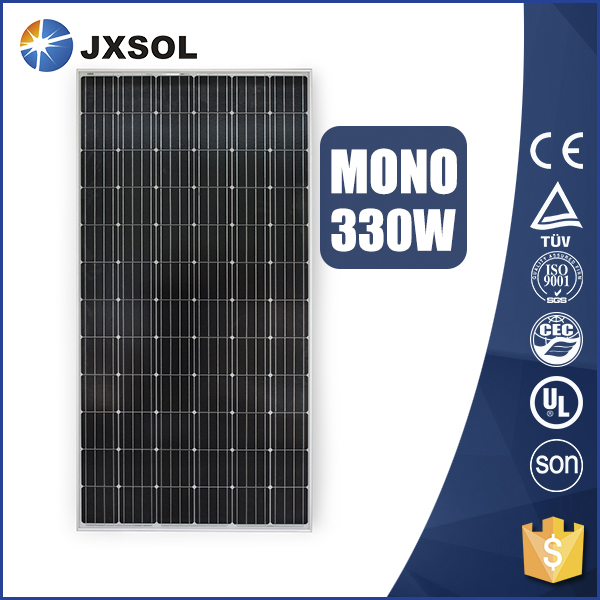 Top quality monocrystalline silicon cheap 330 watt replacement solar light panel