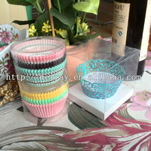 custom wedding clear PVC boxes for cake decoration ,plastic food container