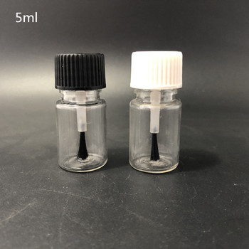 5ml 10ml 15ml 20ml  PET glue brush bottle, plastic nail polish bottle,touch up bottle