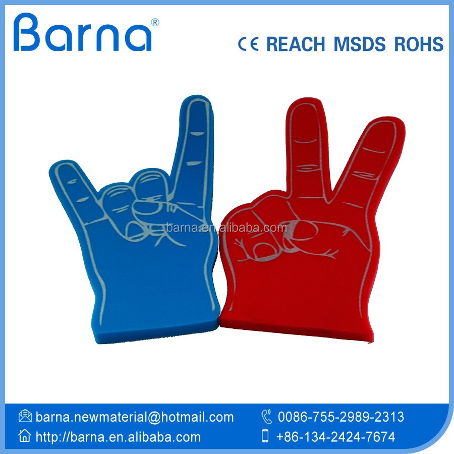 China designed foam finger cheering foam hand promotional products