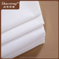 T200 White T/C Plain Hotel Bedding Set Fabric