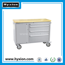 High quality 48 inch rubber wood top 4 drawer workbench