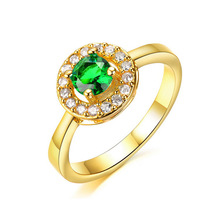 High-end Market Elegant Jewelry Women Ring Design Models Shinny AAA Cubic Zirconia Ring Micro-paved Jewelry Gold Plated Ring