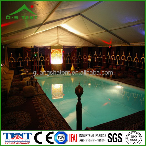 12m aluminium profile and pvc cover swimming pool tents