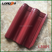 China popular L8001 rose red ceramic roof tiles with best price