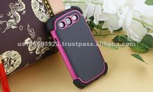 TPU+PC+Sillion back cover for Samsung I9300 cover case