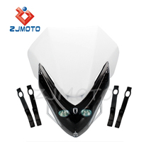 ZJMOTO Motorcycle Motocross Supermoto Head Light With LED Turn Light Blinker CR80R/85R CRF125F CRF150R CR125R/250R CRF250R CRF45