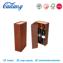 Hot!Custom Printed Kraft Paper Wine Boxes, single/multiple Bottle Paper Carriers For Sale