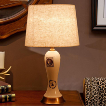 European style ceramic indoor lighting table lamp shades