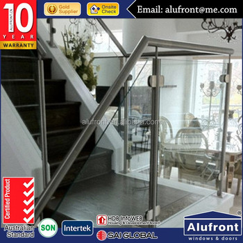Hot Sale Good Quality with AS2208 indoor glass stair railings