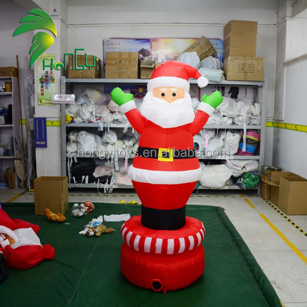 Portable Waving Inflatable Father Christmas Santa Claus Yard Decoration Model