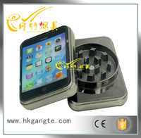 GT5049 Mobile phone design 2layer metal herb /weed/tobacco grinder OEM