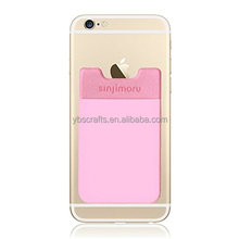 Custom logo printing Lycra smart wallet / 3m adhesive sticker misrofiber card holder for all smart phones
