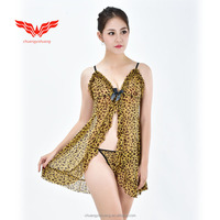 Women leopard print underwear and sexy lingerie for ladies (Accept OEM)