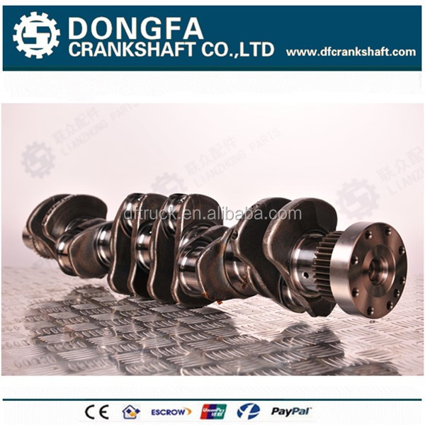 Hot sell forging steel crankshaft 4934862 for ISDE 6 cylinder diesel engine
