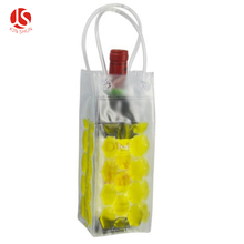Two Bottle Promotional custom pvc ice bag for Wine Cooler Ice Bag