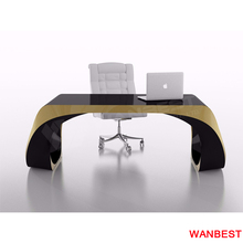 Customized Black and Gold Unique Design Office Manager Desk