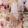Waterproof Tattoo Women White Black Ink Henna Lace Braclet Temporary Tattoo Sticker