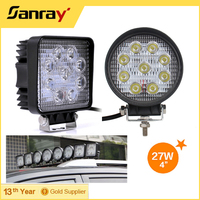 "4"" Round and Square led auto off road worklight led Marker work lamp 27w"